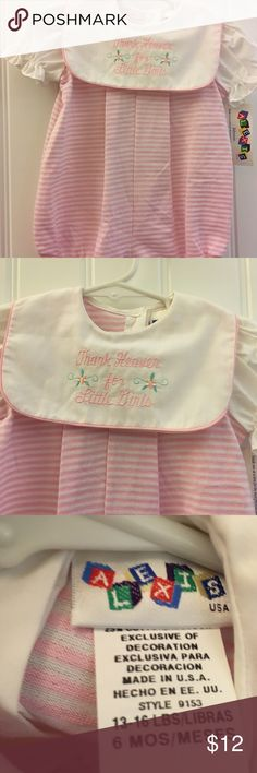 Thank heaven for Little girls by  Alexis size 6 mt NWT Precious Alexis One Pieces