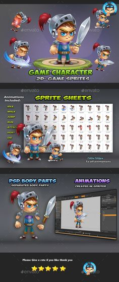 Knight Game Character Sprites 01 - Sprites Game Assets