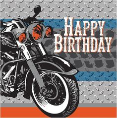 Cycle Shop Motorcycle Theme Biker Kids Birthday Party Paper Luncheon Napkins