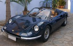 1973 Ferrari Dino 246GTS coachwork by Pininfarina (c/n 07522). The depths of Enzo Ferrari's affection for his son Dino are plumbed by the effort to which Ferrari went to perpetuate his memory following Dino's untimely death in 1956. Ferrari credited his son with championing the V6 engines which powered Ferrari's late 50's and 60's competition cars and recognized Dino's contribution in those cars' names.