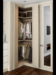 Trendy Bedroom Wardrobe Ideas Space Saving Built Ins Ideas Corner Wardrobe Closet, Wardrobe Design Bedroom, Bedroom Wardrobe, Closet Small, Wardrobe Furniture, Master Closet, Built In Wardrobe Designs, Closet Designs, Wardrobe Ideas