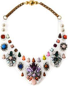 Shourouk Melancholia Embellished Bib Necklace - Lyst