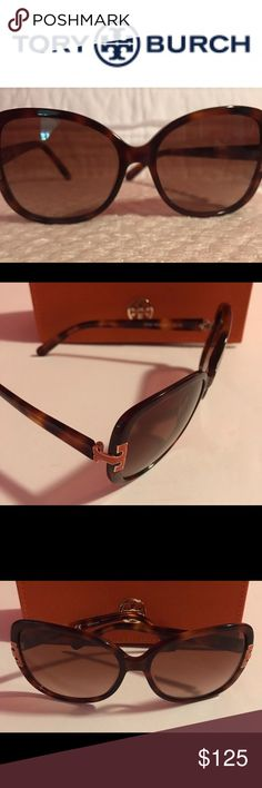 Tory Burch Sunglasses Tory Burch Sunglasses TY7022 Fly your fashion wings with this stunning style from Tory Burch.  This best selling butterfly frame meets playful hues on each temple.      Case included, Excellent Used Condition. Tory Burch Accessories Sunglasses