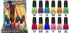China Glaze nail polish OFF SHORE summer 2014 , 1/2 oz. 12-bottle w/display