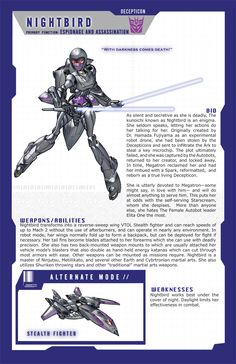 Nightbird MtMtE page by Tramp-Graphics.deviantart.com on @deviantART. I always thought that Nightbird was so cool! :D