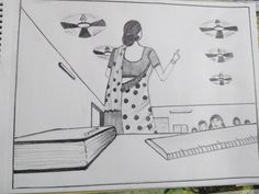Cool Drawings, Pencil Drawings, Previous Question Papers, Architecture Drawing Sketchbooks, Perspective Sketch, Human Figures, Creative Skills, Creative Memories, Ant