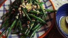 Receita de Salada de Vagem com Amêndoa e Molho de Mostarda