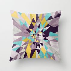 blow Throw Pillow by Leandro Pita - $20.00 love the pattern!