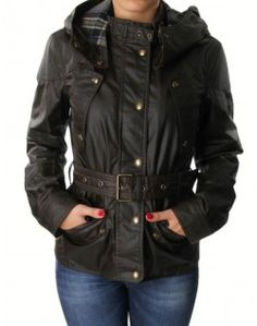 Belstaff Olive Hooded Trackmaster Icon Jacket