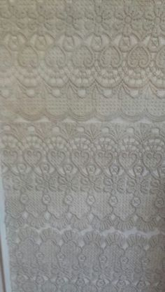 Lace on interior door made by myself.