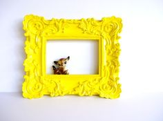 Yellow Bliss Baroque Frame From Amye 123 On esty