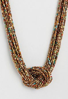 Turquoise and gold necklace seed bead от StephanieMartinCo на Etsy African Beads Necklace, Seed Bead Necklace, Seed Bead Jewelry, Bead Jewellery, Diy Necklace, Necklace Designs, Beaded Earrings, Beaded Jewelry, Jewelery