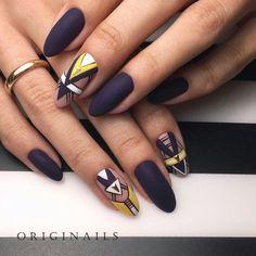 nails acrylic summer amazing nail art 2020 beautiful nails 2020 nail art ideas 2020 art designs with rhinestones 2020 foxy nails Love Nails, How To Do Nails, Fun Nails, Pretty Nails, Almond Nails Designs, Geometric Nail, Diamond Nails, Manicure E Pedicure, Types Of Nails