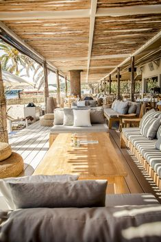 25 Spectacular Beach Restaurant Interior Exterior Design Ideas The Interior Has A Specific Amount Of Drama And Yet In Addition It Is Easy It Is Very Glamorous But Also Very Simple Employing Arched Casing For En Lounge Design, Villa Design, Design Hotel, Beach Restaurant Design, Terrace Restaurant, Beach Design, Restaurant Ideas, Lakeside Restaurant, Restaurant Seating