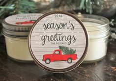 Set of 12 4 oz. Holiday Favor Candle//Christmas by TheDancingWick