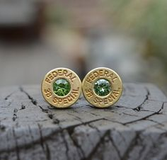 Bullet Earrings stud earrings or post earrings by WoodenTreasures