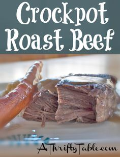 One of our family favorites is a pot roast dinner. Garlicky mashed potatoes, carrots, homemade dinner rolls, and a rich beef gravy – YUM! This one cooks up in the slow cooker, giving you time to enjoy your family!