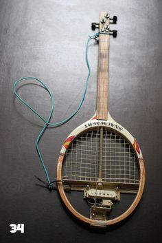 Tennis racquet guitar — rad!
