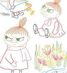 Ooooooh! Moomin embroidery patterns. I love these. MOOMIN / Little My - Embroidery Patterns