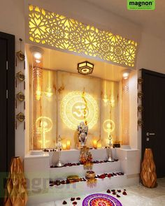 Vastu Tips for Pooja Room Leading Home Decorators in Bangalore - Vastu Tips for Pooja Room - Interior Designers in Kanakpura Road - Top Interior Designers in Bangalore Pooja Room Door Design, Home Room Design, Home Interior Design, Living Room Designs, Interior Modern, Sala Zen, Temple Room, Temple Design For Home, Mandir Design