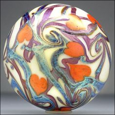 Orient-Flume-Hearts-Vine-Studio-Art-Nouveau-Iridescent-Glass-Paperweight