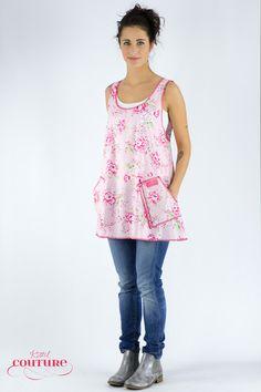 Weiteres - Kleid Schürze Amelie/ Rosa Blumenkleid - ein Designerstück von Kittelcouture bei DaWanda