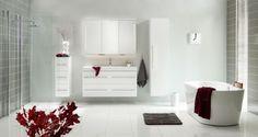 """Ingrid"" i hvit høyglans fra Linn Bad Bathtub, Bathroom, House, Bad, Design, Ideas, Standing Bath, Washroom, Bathtubs"