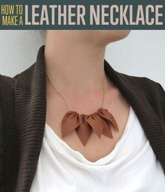 How to Make a Leather Necklace   DIY Necklace