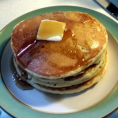 """Fluffy Pancakes! 4.78 stars, 65 reviews. """"Best pancakes ever!!! My 3 year old tore them up before any butter or syrup!!!"""" @allthecooks #recipe #breakfast #pancake #fluffy #easy #dessert"""