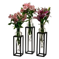 Danya B 3 Amphora Vase with Square Metal Stand - Set of 3 - Arrange the Danya B 3 Amphora Vase with Square Metal Stand - Set of 3 in a row, bunch the vases together, or scatter them around the room. This...