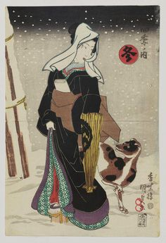 Artist: Utagawa Kunisada Title:Winter (Fuyu), from the series The Four Seasons (Shiki no uchi)