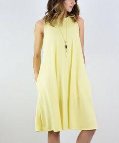 Look what I found on #zulily! Yellow Pocket Shift Dress #zulilyfinds