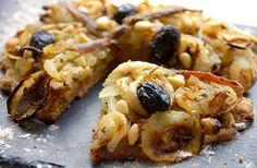 Bienvenue chez Spicy: Pissaladière avec pâte à la farine d'orge (IG bas)