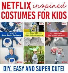 Netflix inspired costumes for kids! So cute! #StreamTeam Ad