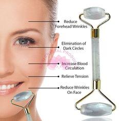 Natural Healing, Crystal Healing, Stone Massage, Massage Tools, Massage Roller, Facial Massage, Reduce Inflammation, Quartz Stone, Cellulite