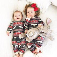 Christmas Pajamas Dress For Baby Girls Kids Boy Vestidos Toddler Baby Boy Girl Christmas Long Sleeve Deer Print Romper Clothes Pajamas For Teens, Toddler Pajamas, Baby Girl Pajamas, Baby Outfits, Baby Girl Dresses, Baby Dress, Baby Jumpsuit, Matching Christmas Pjs, Family Christmas Pajamas