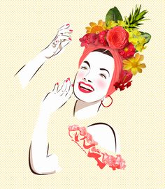 Carmen Miranda Carmen Miranda, Tropical Art, Mosaic Garden, Arte Pop, Book Projects, Pictures To Paint, Ink Painting, Fall Halloween, Art Forms