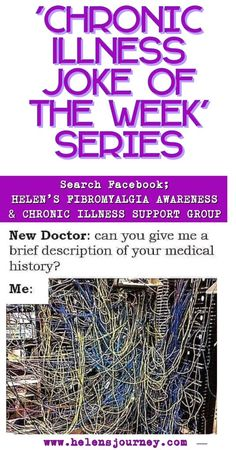 'Chronic Illness Joke of the Week' Series – Joke about being asked for a 'brief' medical history when you have multiple chronic conditions. Chronic Fatigue Syndrome, Chronic Illness, Chronic Pain, Fibromyalgia, Endometriosis, Delayed Sleep Phase Syndrome, Joke Of The Week, Laughter Medicine, Illness Quotes