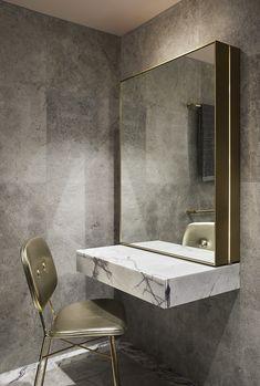 Fritz Hansen, What Is Interior Design, Build A Closet, Changing Room, Salon Design, Terrazzo, Bathroom Inspiration, Bathroom Interior, Interior Architecture