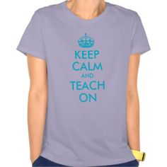 Aqua Keep Calm and Teach On Lavender Women's Hanes Nano T-Shirt
