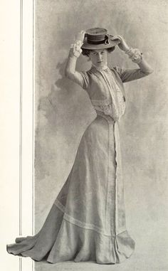 1901 July, Les Modes Paris - Morning dress by Redfern