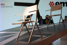 MIA stackable chair collection designed by French architect and designer Jean Nouvel. #FredericClad #THEFARM