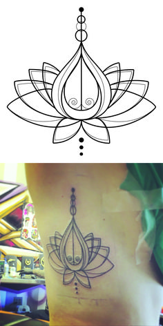 Lotus flowers grow in muddy environments, it symbolizes purity and harmony. I also semi incorporated a Unalome (they are the crowns of arahants, the enlightened saints. - It is a symbol of spiritual and personal quest to enlightenment.)