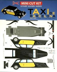Taxi Models - Page 4 Paper Model Car, Paper Car, Old Paper, Cardboard Toys, Paper Toys, Paper Crafts, Papercraft Anime, Free Paper Models, Fiat Uno