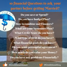 10 Finance Questions your must ask your Partner before getting Married    #finance #financequetions #moneyquetions #couplefinancetips #marriedfinancetips #marriage #moneysaving #MoneyManagement #insurance #financegoals #creditscore #credit