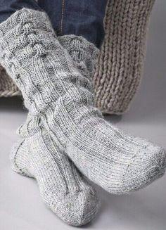 Grey wollen socks