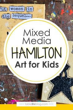 Looking for ways to incorporate the inspiring messages from Hamilton into your learning plans? We've got a fun mixed media Hamilton art tutorial for you to enjoy with your kids! Art Projects For Teens, Art Activities For Kids, Preschool Art, Art For Kids, Inspiring Messages, Inspirational Message, Teen Art, Art Curriculum, Middle School Art
