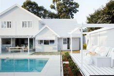 Hamptons Style Homes, Hamptons House, The Hamptons, Hamptons Kitchen, Outdoor Areas, Outdoor Pool, Three Birds Renovations, Backyard Pool Designs, Patio Design