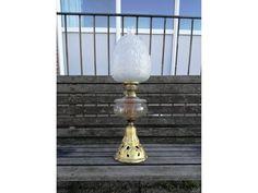 Art Nouveau Glass Oil Lamp Cast Iron Petroleum Lamp Table Light Unique Lamps, Unique Art, Etsy Vintage, Vintage Items, Cast Iron, It Cast, Lamp Table, Oil Lamps, Light Table