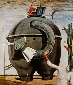 Max Ernst, The Elephant of Celebes, 1921.